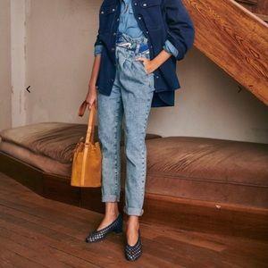 NWOT Sezane Austin Bleached Trousers Size 2